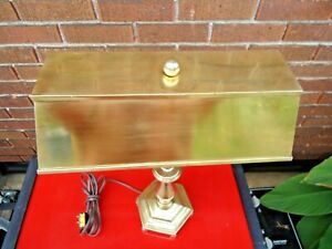 Brass Table / Desk / Piano / Banker's Lamp /  Antique, Made in England