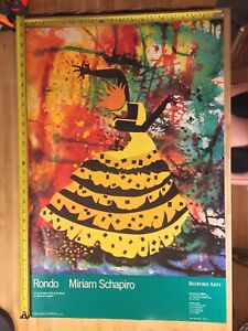 "Miriam Schapiro Vintage Art Exhibition Poster Rondo 20"" x 30"""
