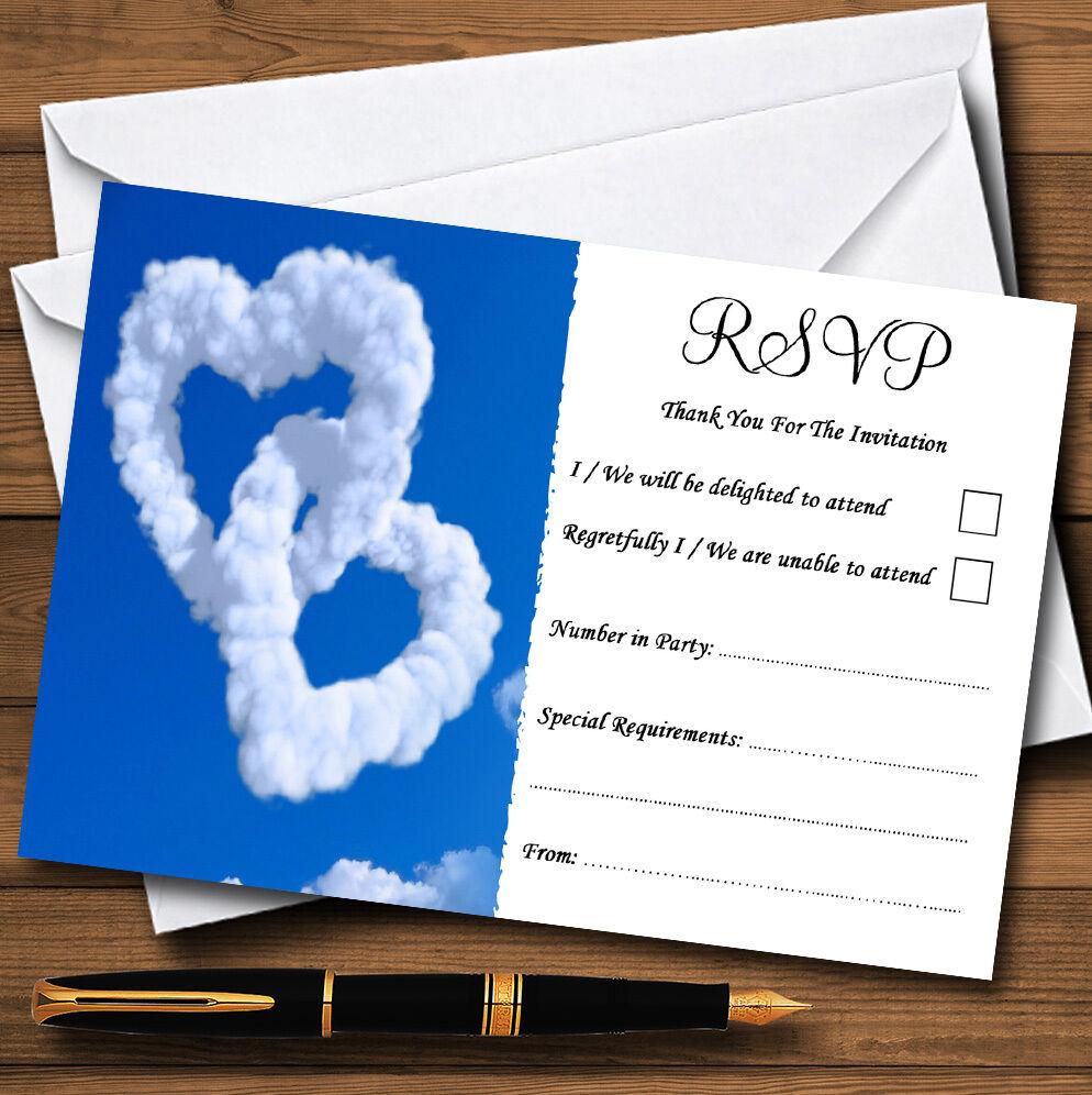 Cœur roFemmetique Nuages Ciel personnalisé mariage ou RSVP fête RSVP ou cartes e33626