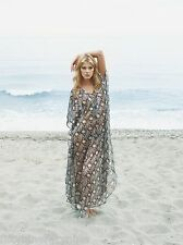 NEW AUTHENTIC MELISSA ODABASH SILK  KAFTAN / DRESS ONE SIZE  (£615)