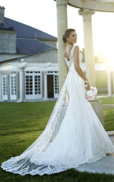 New Mermaid Bridal Wedding Dress Ball gown Custom 6 8 10 12 14 16 18+++++++