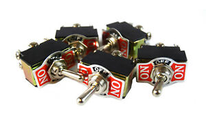 5-PIECES-DPDT-10-Amp-Toggle-Switch-with-On-Center-Off-Position-Heavy-Duty