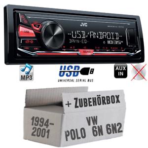 Autoradio jvc para VW Polo 6n+6n2 4 x 50 vatios auto KFZ radio set mp3 USB Android