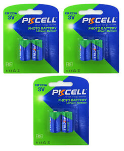 6-x-CR123A-Lithium-Batterie-3-Blistercards-a-2-Batterien-Markenware-PKCELL
