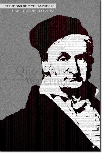Carl Friedrich Gauss Art Print-Iconos De Matemáticas serie #3 de 25-Poster