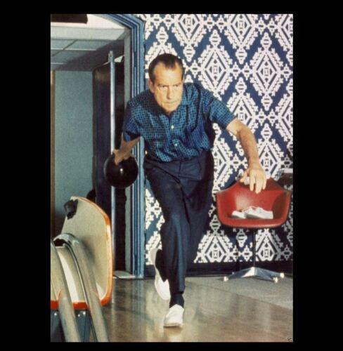 Rare Richard Nixon Bowling PHOTO White House Lanes Republican President Ball