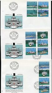 SWITZERLAND MICHEL#1120/27 GROUP OF 6 DIFFERENT COMBINATION FIRST DAY COVERS
