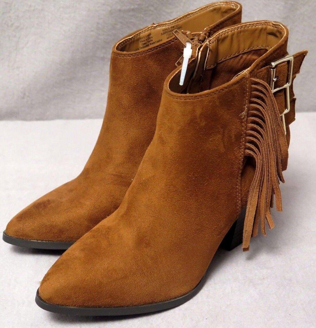 JENNIFER LOPEZ COGNAC Womens Brown Fashion/Casual High Heels Dress Boots BNWOB