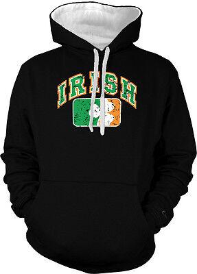 Irish Ireland Pride Shamrock Four Leaf Green Clover Hoodie Pullover