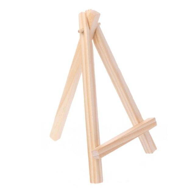 Mini Wooden Tripod Easel Display Painting Stand Card