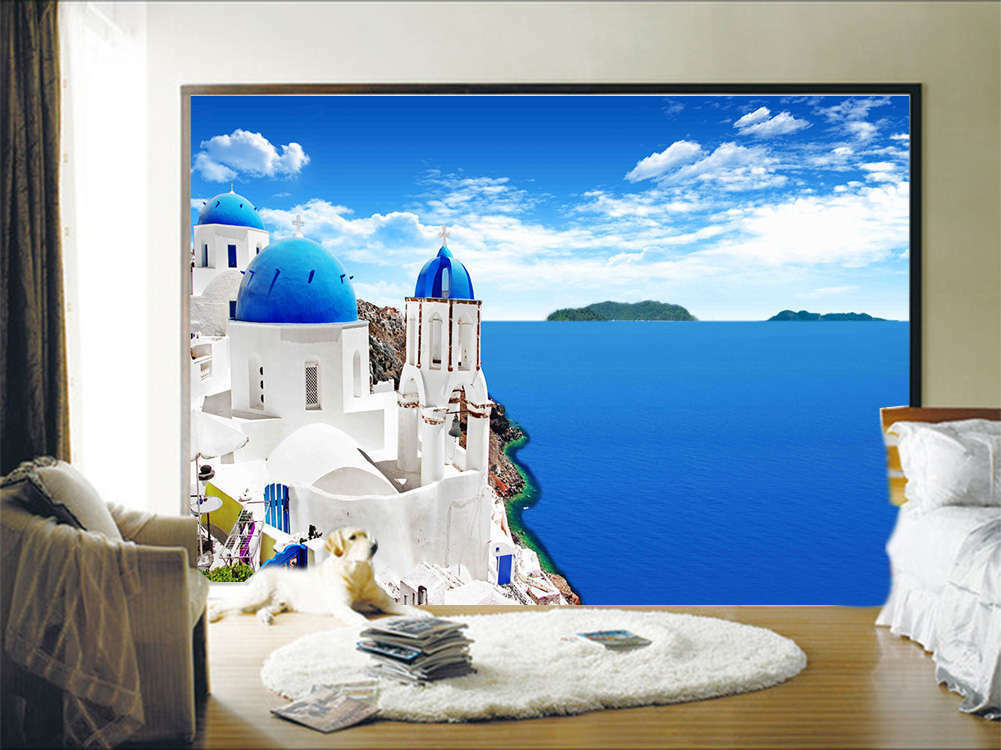 Blau Wide Seaview 3D Full Wall Mural Photo Wallpaper Printing Home Kids Decor