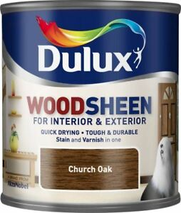 Dulux-All-In-One-Stain-amp-Varnish-Interior-Exterior-Woodsheen-250ML-CHURCH-OAK