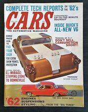 Cars The Automotive Magazine Nov 1961 - 1962 Tech Reports Ford - Chrysler - GM