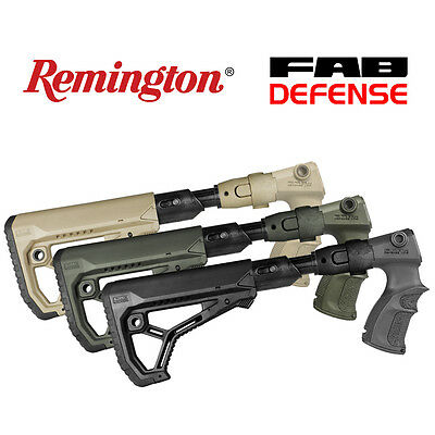 AGR 870 FK by FAB Defense Green Olive OD color BUTTSTOCK FOR REMINGTON 870