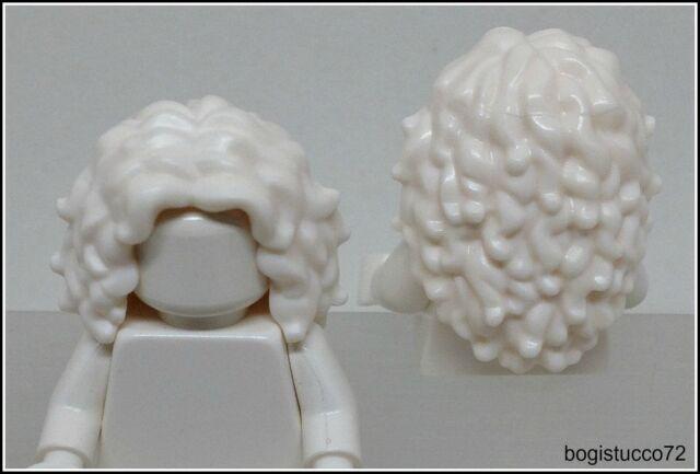Lego City x1 White Long Wavy Tousled Hair Old Grandma Female Girl Minifigure NEW