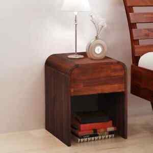 vidaXL-Solid-Acacia-Wood-Nightstand-41-5x42x52cm-Bedroom-Bedside-Table-Stand