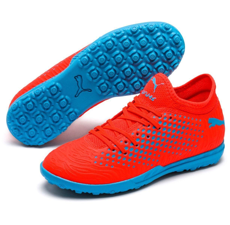 Puma Future Netfit 19.4 Turf TF 2019 Soccer shoes orange Royal bluee Kids Youth