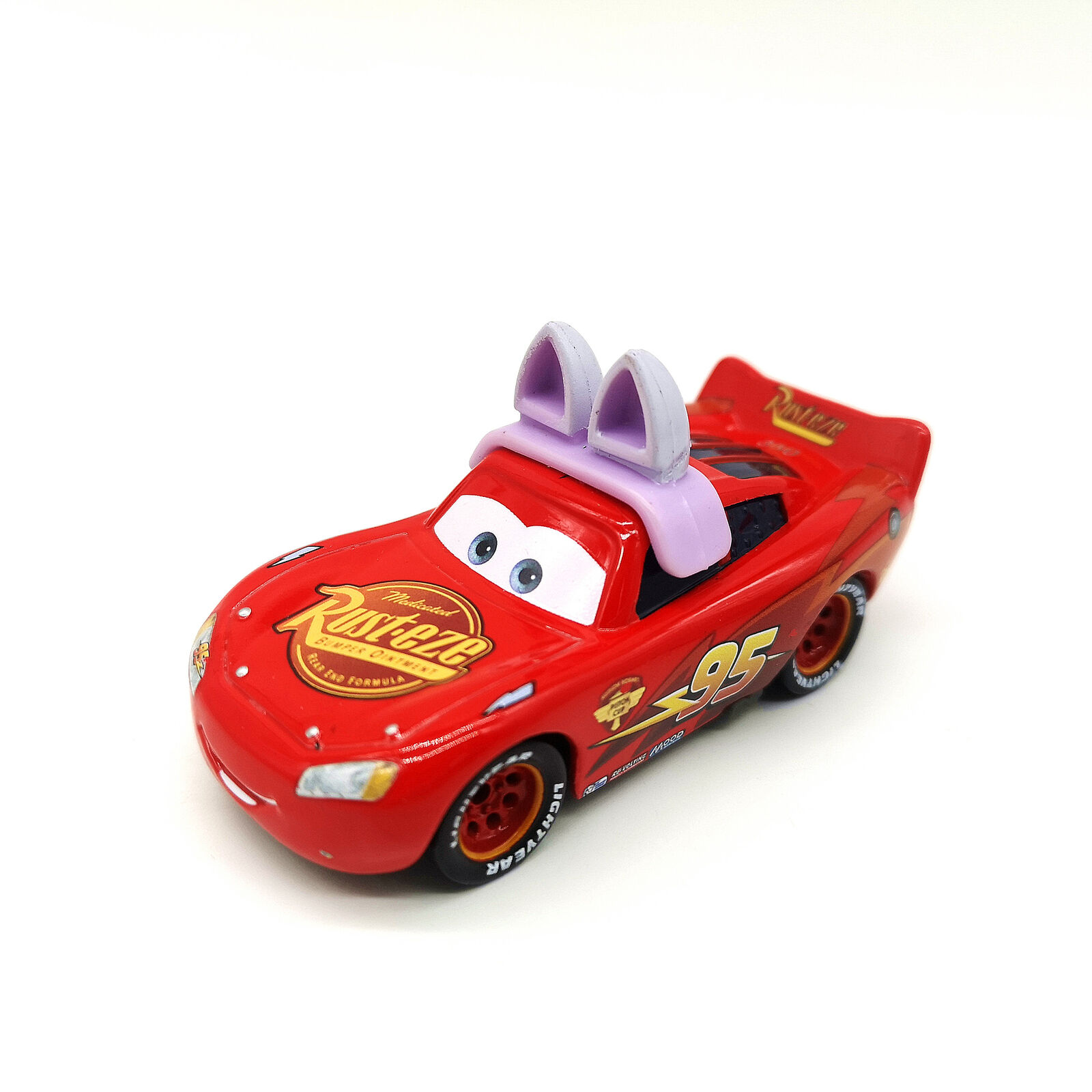 Cars 3 Bunny Lightning Mcqueen Diecast Toy Car 1 55 Loose Kids Vehicle Rare