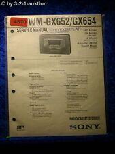 Sony Service Manual WM GX652 /GX654 Cassette Corder (#4570)