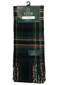Scott Green Modern Tartan Clan Scarf 100/% Soft Lambswool