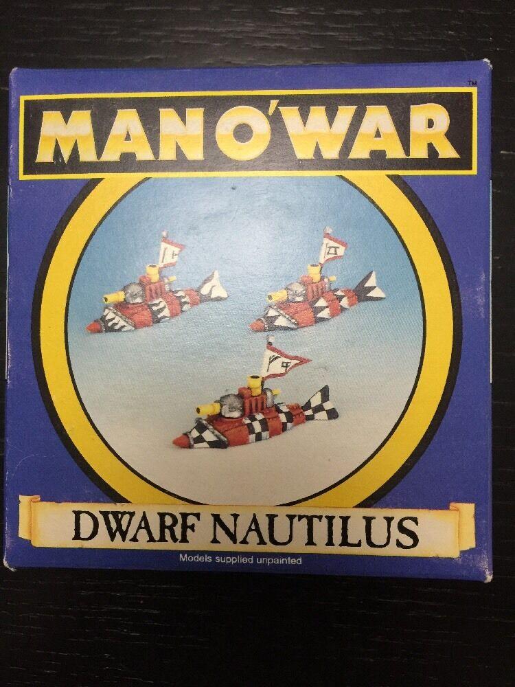 Fantasy Man O' War Dwarf Nautilus OOP Rare Vintage In Box
