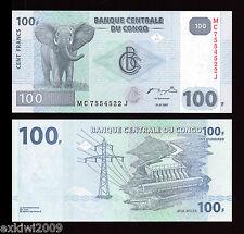 Congo 2007 100 Francs  P-98  UNC