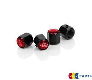 NEW-GENUINE-FORD-PERFORMANCE-RED-TYRE-VALVE-CAPS-SET-4PCS-2308111