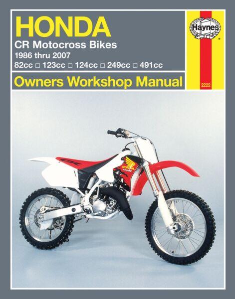 1986 2007 Honda Cr80 Cr125 Cr250 Cr500 Cr 80 125 250 500 Haynes Repair Manual Ebay