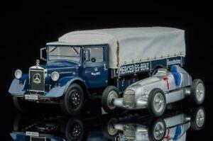 CMC-M-164-1934-Mercedes-Racecar-Transporter-W25-T-Car-Combo-1-18-Scale-NEW