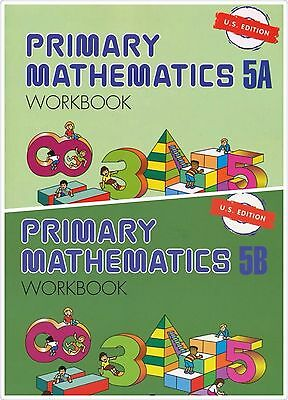 Singapore Primary Math 2 Workbooks 5A and 5B US ED - FREE Expedited Shipping