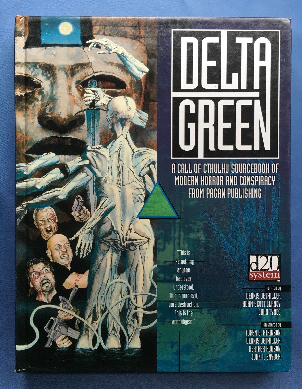Delta vert-Call of Cthulhu SOURCEBOOK-Couverture rigide-Pagan d20 Chaosium