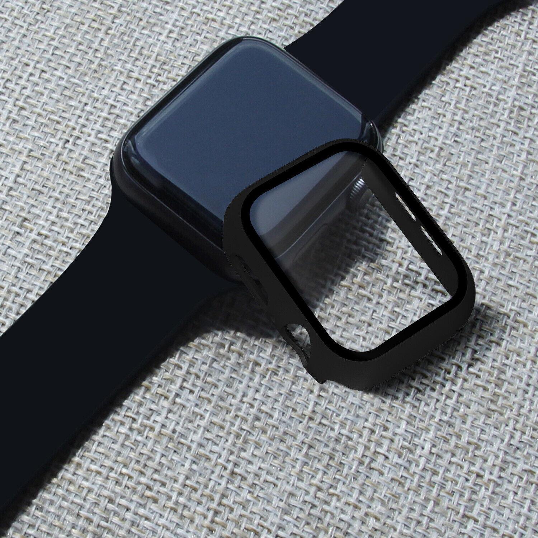 iwatch: Custodia Cover Protezione VETRO Temperato per Apple iWatch Watch 5 4 3 2 case