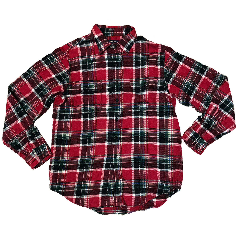 a7e3a186e Polo Ralph Men's Plaid Work shirt (710569913001) Lauren Twill ...