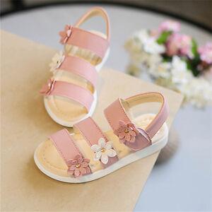 Newborn Baby Boy Girl Floral Sandals Toddler Prewalker Soft Sole Kids Crib Shoes