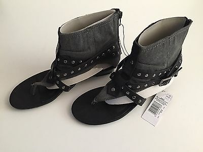 Señoras SANDALIA PLANA/Zapato Talla 6 Nuevo con etiquetas Envío Gratis