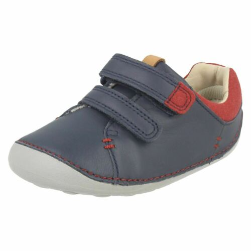 Garçons Enfant Clarks Tiny Toby Velcro Casual Pré Marche Premier Chaussures Taille