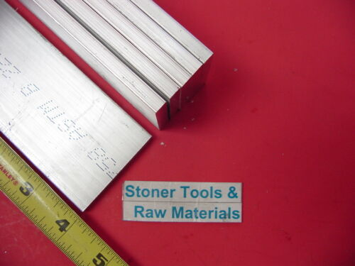 "6 Pieces 1//2/""x 2/"" ALUMINUM RECTANGLE BAR 4/"" long 6061 Solid Plate Mill Stock"