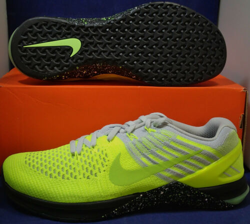 701 Platine Dsx Sz Volt Flyknit Nike 9 5 852930 Crossfit 3 Metcon Pur Noir waqxxUFCO