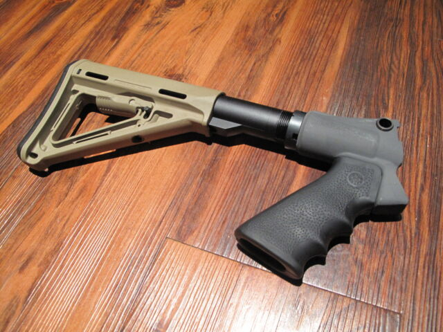 Mesa Tactical & Magpul Stock Kit Remington 870 Desert Tan Pistol Grip 6 Position
