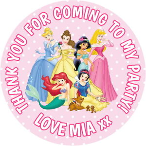 PERSONALISED-DISNEY-PRINCESS-GLOSS-BIRTHDAY-PARTY-BAG-SWEET-CONE-STICKERS