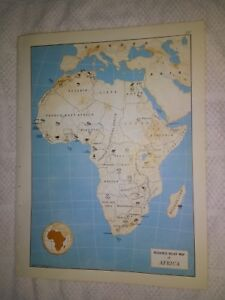 Map Of Africa 1960.Details About 1960 Resource Relief Map Of Africa