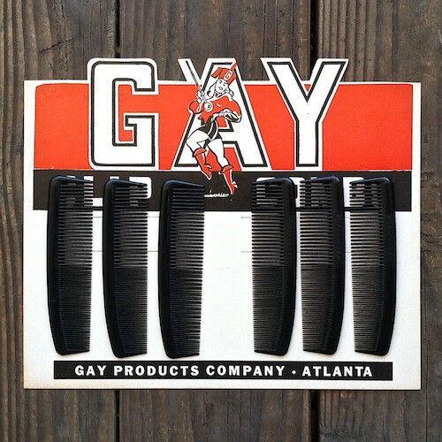 Vintage Original GAY COMB DISPLAY Advertising Store Sign Display 1940s Unused