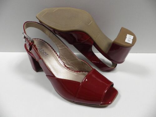 En Taille Cuir Escarpins Gabor Rouge Ouvertes 95 Mules Nuovo760 Chaussures Femme 35 IWDYeH2E9