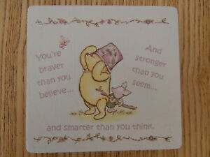 Shabby Winnie The Pooh Youre Braver Than You Believe Picture Quote