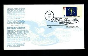 US FDC #1651 State Flags Indiana IN 1976 LGS Cachet Phila. PA UO Ben Franklin