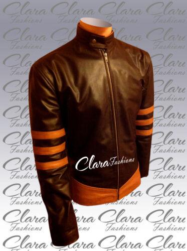 Wolverine Halloween Leather Origin Jacket Stylish Bnwt Brown Xmen an8fpwOO