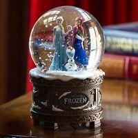 Disney Store Frozen Elsa Anna Olaf Musical Snow Globe Plays Let It Go