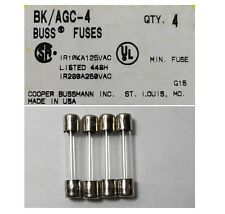 Collins 516F-2 AGC 4 Amp Fuses (Pack of 4) UL Approved Made in the USA