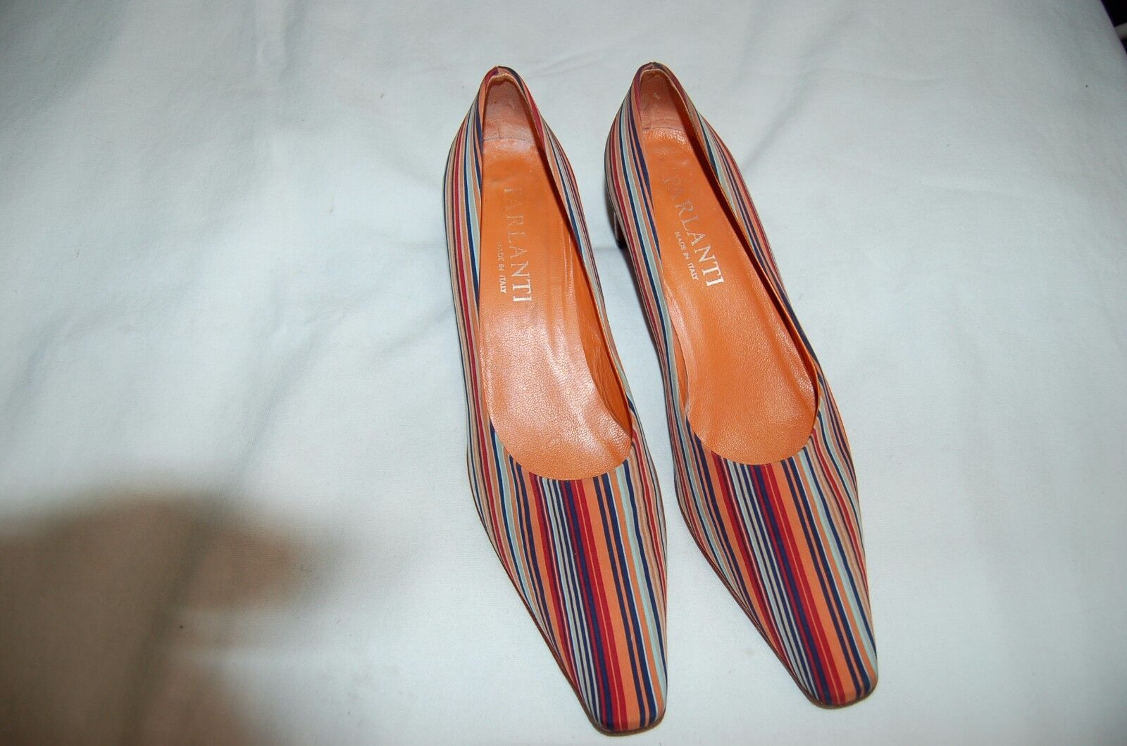 Parlanti Multi-color Satin Heels Shoes Pumps Size Size Pumps 39 Made in Italy aafc84