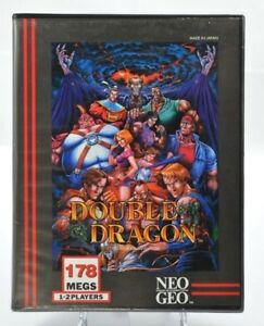 DOUBLE-DRAGON-Neo-Geo-AES-100-legit-SNK-USA-French-Double-notice-RARE